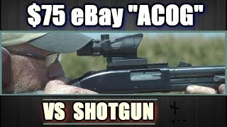 Download Can a $75 ACOG Clone hold up to a 12 ga. Shotgun? Unexpected results! Video