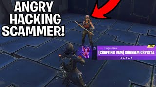 Download Angry Hacker Scams Himself! (Scammer Get Scammed) Fortnite Save The World Video