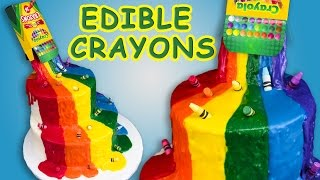 Download Crayon Waterfall Cake (Back to School) w/ Edible Crayons Rainbow Cake Video