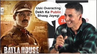 Download Akshay Kumar FUNNY Reaction On John Abraham's Batla House CLASH With Mission Mangal Video