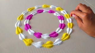 Download Diwali,Dussehra special creative rangoli    दशहरा रंगोली    Very easy attractive rangoli for Diwali Video