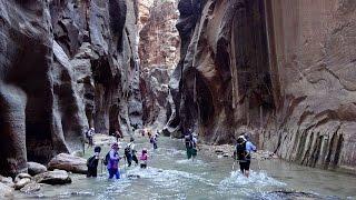 Download Hiking in Zion NP, Utah: Angels Landing & Virgin Narrows in 4K (Ultra HD) Video