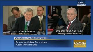 Download Louisana Sen John Kennedy Exchange With Sen Sessions During AG Confirmation Hearings Video