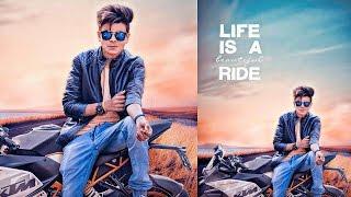 Download PicsArt Photo Manipulation | Boy Sit on the (KTM) bike PicsArt editing Tutorial Video