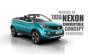 Download Tata Nexon Convertible Concept Rendering - Making Video   SRK Designs Video