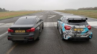 Download DRAG RACE! BMW M3 VS Mercedes A45 AMG! Video
