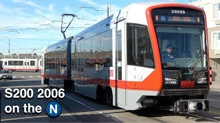 Download ⁴ᴷ San Francisco Muni Metro: New Siemens S200 2006 on the (N) Judah Video