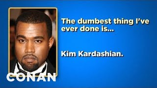 Download Celebrity Survey: Gary Busey, Johnny Depp, Kanye West Edition - CONAN on TBS Video