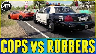 Download Forza Horizon 3 Online : COPS vs ROBBERS!!! (Ford Crown Victoria Police Build) Video