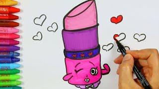 Download Shopkins Ruj Çizimi Nasıl Yapılır? 💗   Shopkins Ruj Çizimi   Shopkins Ruj Renklendirme Sayfası Video