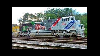 Download UP 1943 Unit Leads Union Pacific OCS Train 4K Video