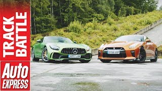 Download Nissan GT-R vs Mercedes-AMG GT R: would the real GTR please stand up? Video
