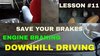 Download DOWNHILL DRIVING    ENGINE BRAKING    SAVE YOUR BRAKES    DESI DRIVING SCHOOL Video