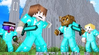 Download 4 vs 50 ATTACKING HELMS DEEP! ULTIMATE WAR IN MINECRAFT Video