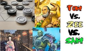 Download Tom vs. Sam vs. Zee: Raptor, TZAAR, Hero Realms, Hanamikoji Video