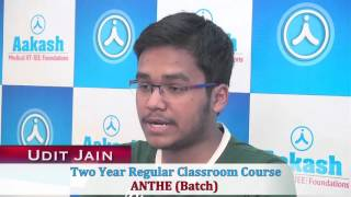 Download Aakash JEE-Advanced 2016 Top Ranker: Udit Jain (AIR-81) Video