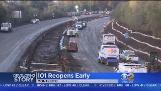 Download Drivers Expected To Get Back On Reopened 101 Freeway Video