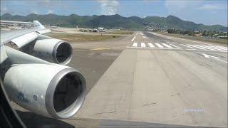 Download Mega Power KLM 747 Take off St Maarten Video
