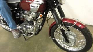 Download ** INCREDIBLE !! ** 1970 TRIUMPH T120R BONNEVILLE 650 ** SOLD !! Video