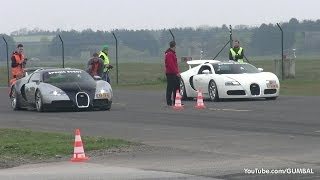 Download Bugatti Veyron w/ Mansory Exhaust vs Bugatti Veyron Grand Sport Video