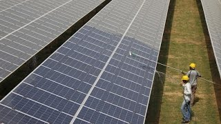 Download India unveils world's largest solar power plant Video