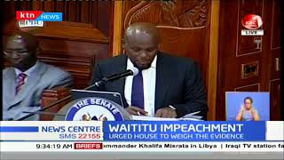 Download Senate resumes Waititu's impeachment hearing as he pleads for fair hearing Video