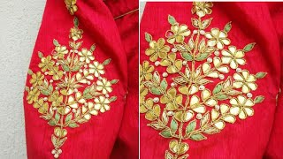 Download Gotta patti embroidery design with normal needle Video