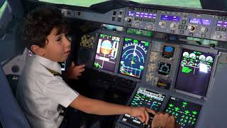 Download 6-Year-Old Genius Kid Becomes Etihad Airways Pilot for a Day Video