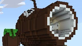 Download Minecraft vs Zombies | COCONUT CANNON!! (Firing Range) | PvZ Land Video
