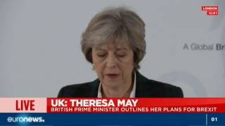 Download Theresa May delivers much-anticipated Brexit speech - Live footage Video