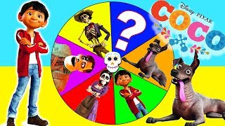 Download PIXAR COCO MOVIE GAME - Spin the Wheel with Fingerlings, Miguel Rivera, Play Doh Surprise Toys Video