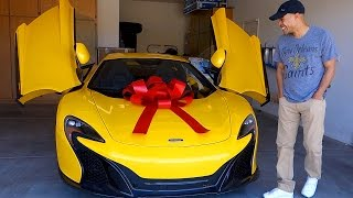 Download SURPRISING HUSBAND WITH DREAM CAR THE MCLAREN!!! Video