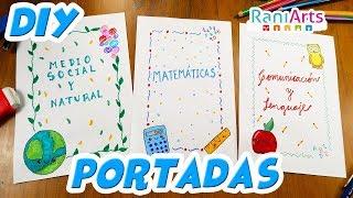 Download DIY- HAZ PORTADAS / CARÁTULAS FÁCILES PARA TUS CUADERNOS!!! Video