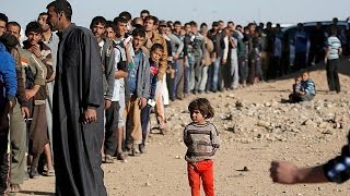 Download Hundreds scramble for food aid in Mosul Video