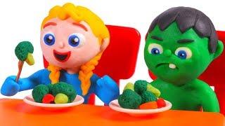 Download SUPERHERO BABIES EATH HEALTHY ❤ Superhero Babies Play Doh Cartoons For Kids Video