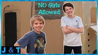 Download No Girls Allowed Boys Only Two Story Box Fort! / Jake and Ty Video