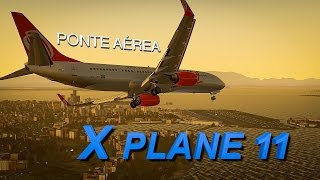 Download X-PLANE 11 | SÃO PAULO - RIO DE JANEIRO | Ponte Aérea | RNAV Y 02R | Video