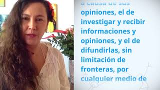 Download Monica Home, Colombia, reading article 19 of the Universal Declaration of Human Rights Video
