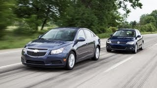 Download How Far Can You Drive On One Tank of Diesel? - Chevy Cruze 2.0TD vs. VW Jetta TDI Video