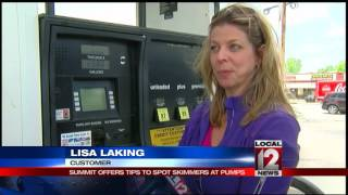 Download Skimmer Summit offers tips to spot skimmers at gas pumps Video