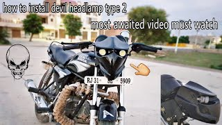 Download How to install devil headlamp type 2 in splendor + & all bikes with easy & simple way Video