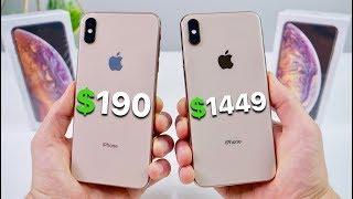 Download $190 Fake iPhone XS Max vs $1449 XS Max! (NEW) Video