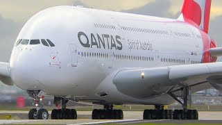 Download INCREDIBLE Airbus A380 CLOSE UP Takeoff & Landing | Qantas | Melbourne Airport Plane Spotting Video