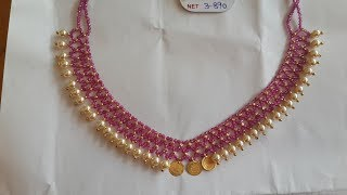 Download Latest Light Weight Beads Necklace Designs With Weight Video
