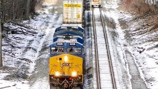 Download A FREEZING & SNOWY Afternoon of Railfanning on the CSX River Line! Feat. Q409 Derailment Aftermath Video