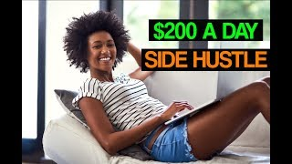 Download Best Side Hustle Ideas - Make $200 DAILY From This One Job Online! Video