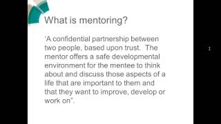Download ChemCareers 2016 The benefits of joining a mentoring scheme Video