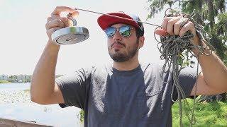 Download Procurando TESOUROS no Lago com um Imã GIGANTE !! ( PESCA MAGNÉTICA ) Video