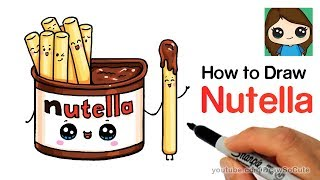 Download How to Draw Nutella Dip Cute and Easy Video