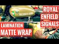 Download Royal Enfield Signals 350 - Lamination || Wrapping || Matte Wrap Video